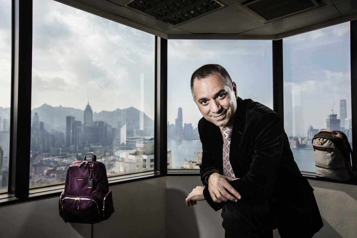 Photograph in Hong Kong of Fernando Ciccarelli, senior vice president and managing director of Tumi's Asia Pacific division.
