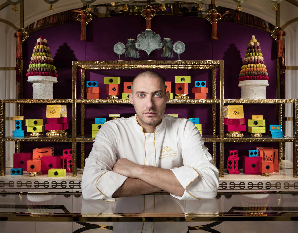 Portrait photograph of Cristophe Devoille, executive pastry chef at Wynn Palace Macau.