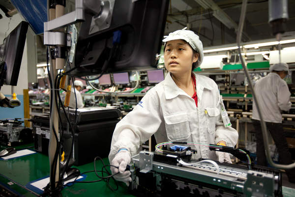 Assembly line at Hon Hai's Shenzhen, China campus.