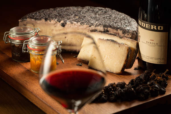 Wine and cheese platter at Bombana restaurant