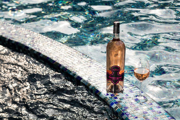 Poolside wine at Sofitel