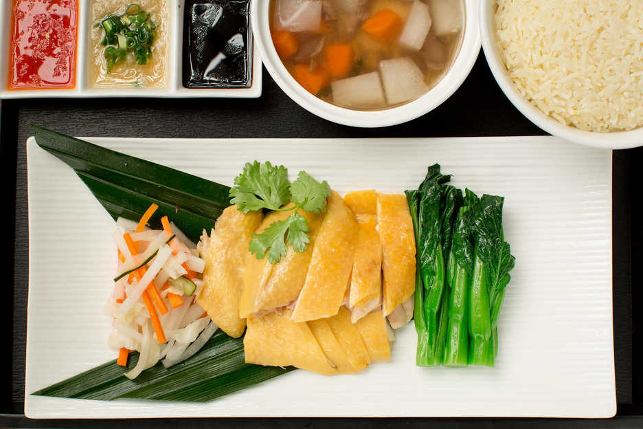 Hainan Chicken photographed for Cafe Deco Macau