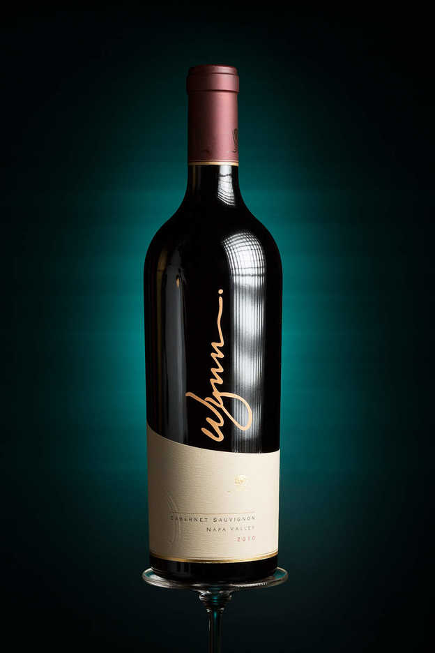2010 bottle of Wynn house brand wine from Napa Valley