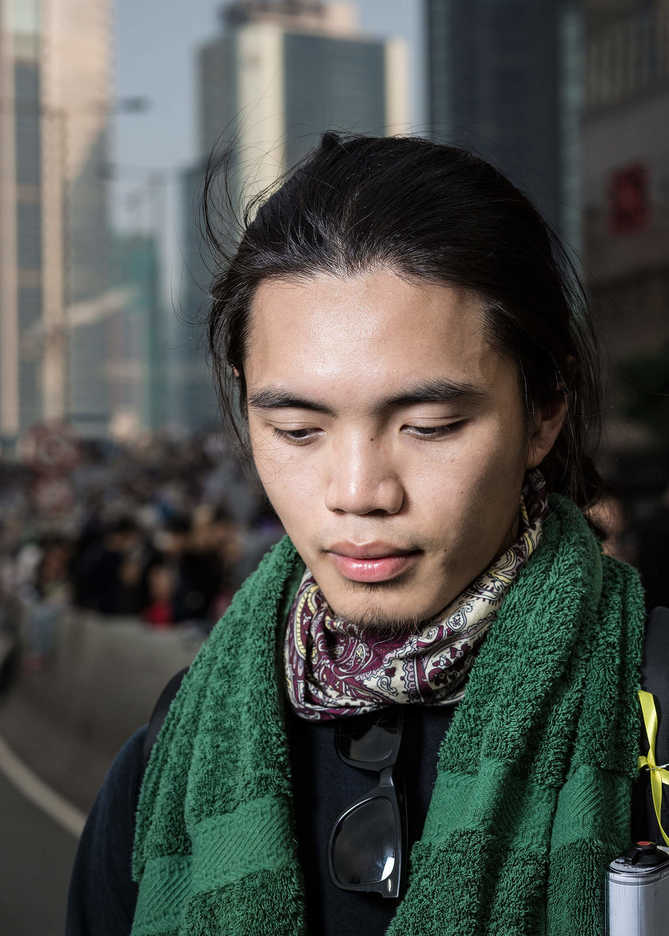 Pro-democracy protester in Central, Hong Kong