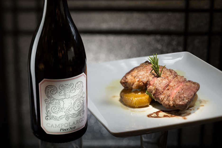 Portuguese steak and wine at Fado restaurant in Macau