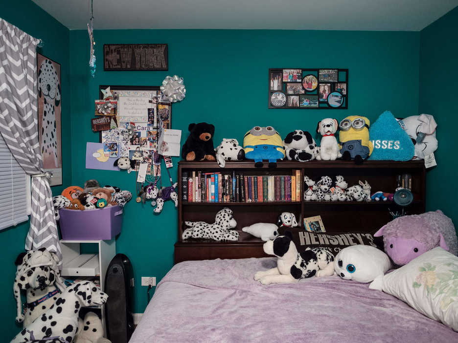 A room in Jonathan Castillo's temporary residence in Downers Grove Illinois